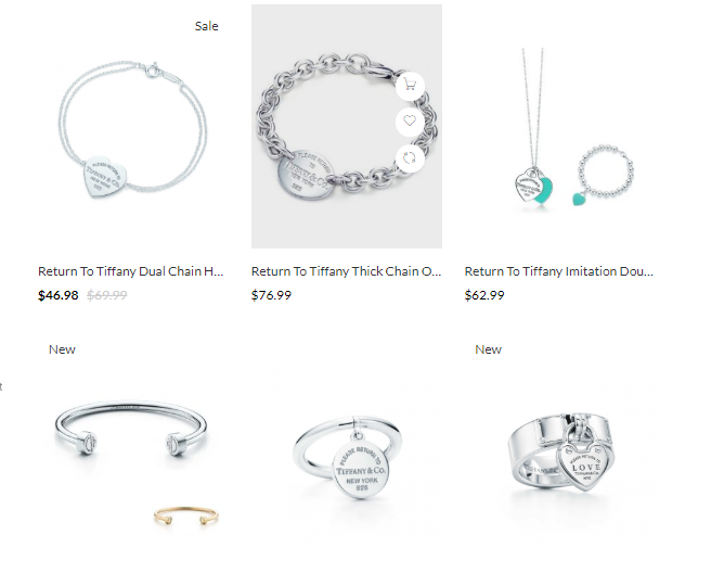 cheap replica return to tiffany jewelry sale