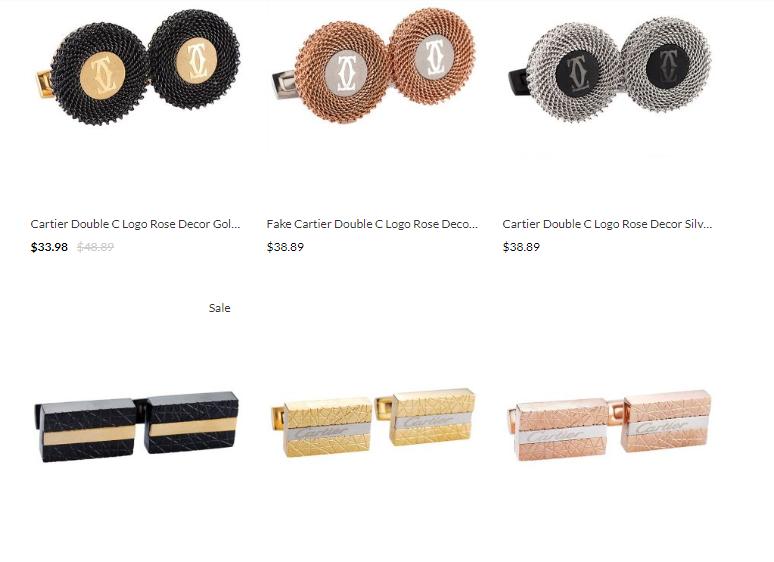 replica cartier cufflinks uk sale